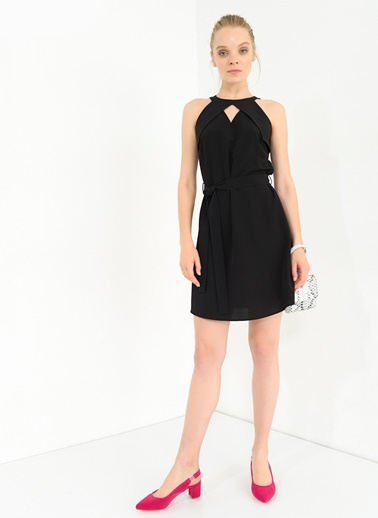Belden Bağlamalı Elbise-Agenda